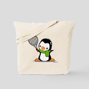 Tennis Penguin Tote Bag