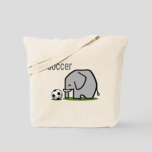 Soccer Elephant Tote Bag