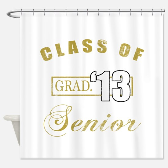 Class Of 2013 (Distressed, Gold) Shower Curtain