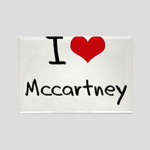 I Love Mccartney Rectangle Magnet