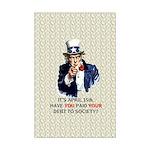 Debt 2 Society Mini Poster Print