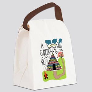 A Glamping we will go Canvas Lunch Bag
