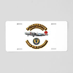 AAC - B-24 - 15 AF Aluminum License Plate