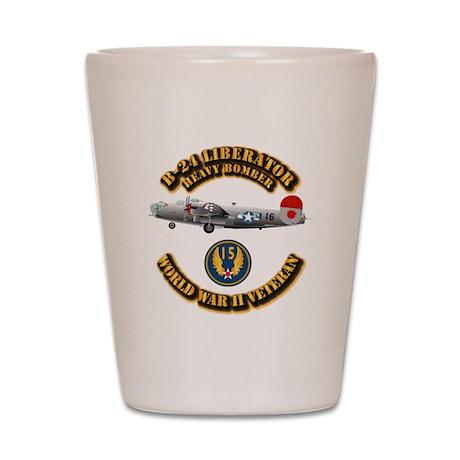 AAC - B-24 - 15 AF Shot Glass