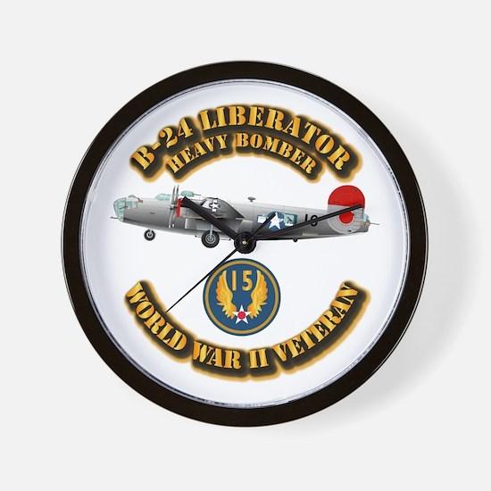AAC - B-24 - 15 AF Wall Clock