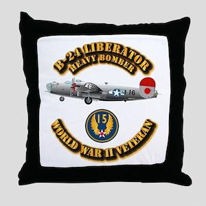 AAC - B-24 - 15 AF Throw Pillow