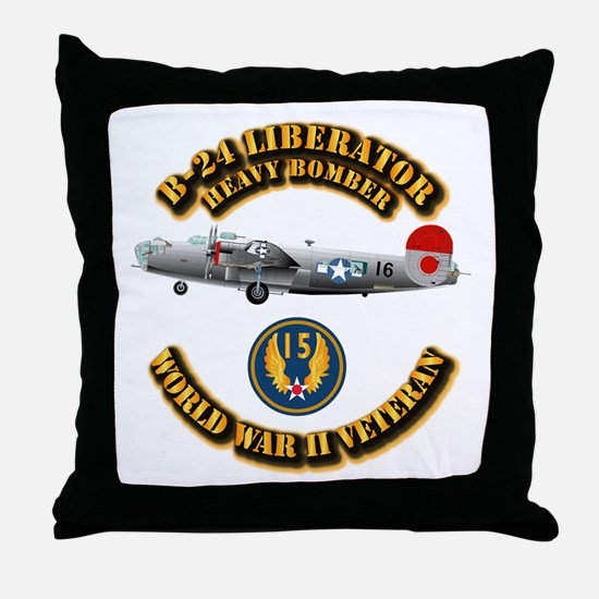 AAC - B-24 - 15 AF Throw Pillow