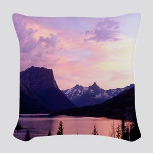Glacier National Park Woven Throw Pillow