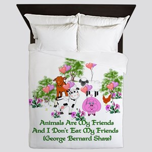 Shaw Anti-Meat Quote Queen Duvet