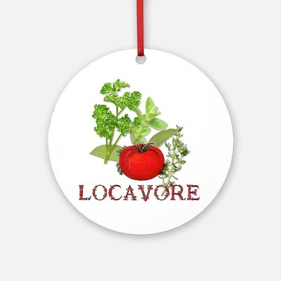Be A Locavore Ornament (Round)