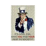 Debt 2 Society Rectangle Magnet (100 pack)