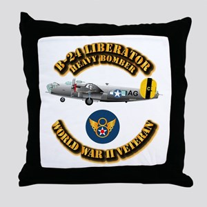 AAC - B-24 - 8 AF Throw Pillow