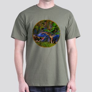 Everglades Alligator and Snake Dark T-Shirt
