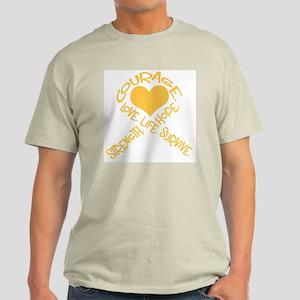 Gold Ribbon of Words Light T-Shirt