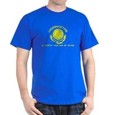 Kazakhstan - We Support Your Dark T-Shirt