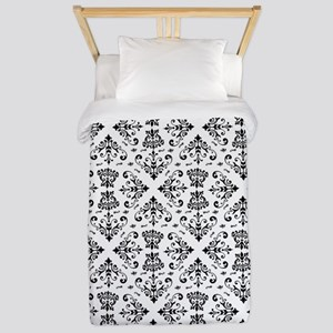 Black & White Damask #23 Twin Duvet