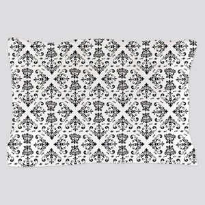 Black & White Damask #23 Pillow Case