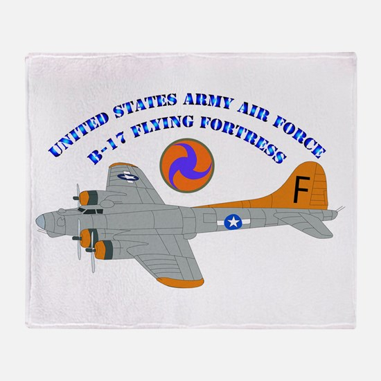 USAAF - B-17 Flying Fortress Throw Blanket