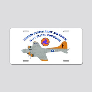 USAAF - B-17 Flying Fortress Aluminum License Plat