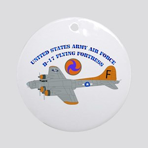 USAAF - B-17 Flying Fortress Ornament (Round)