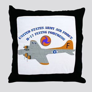 USAAF - B-17 Flying Fortress Throw Pillow