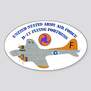 USAAF - B-17 Flying Fortress Sticker (Oval)