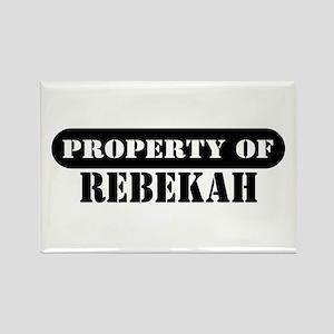 Property of Rebekah Rectangle Magnet