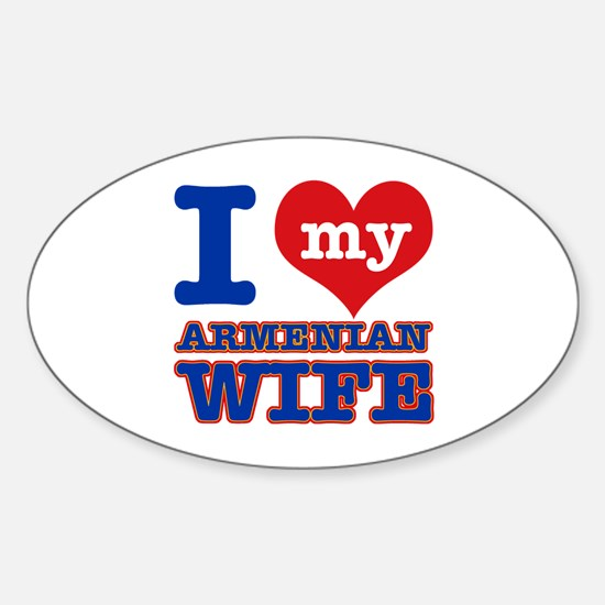 I love my Armenian Wife Sticker (Oval)