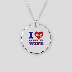 I love my Armenian Wife Necklace Circle Charm