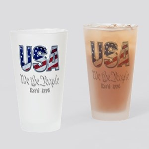 USA Drinking Glass