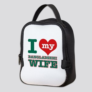 I love my Bangladeshi Wife Neoprene Lunch Bag