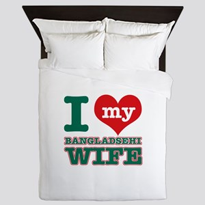 I love my Bangladeshi Wife Queen Duvet