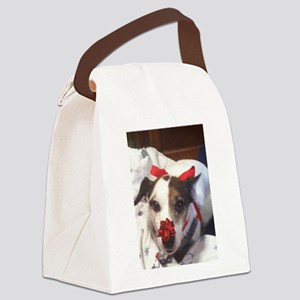 Gromit Dressed As A Gift! Canvas Lunch Bag