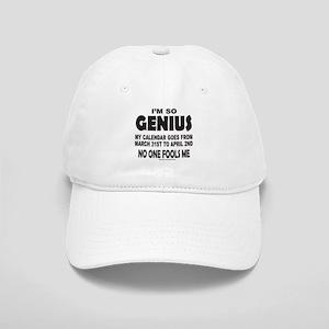 I'M SO GENIUS NO ONE FOOLS ME Cap