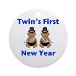 Twins First New Year African Ornament (Round)