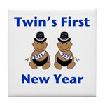 Twins First New Year African Tile Coaster