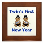 Twins First New Year African Framed Tile