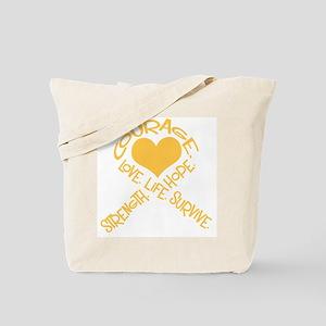 Gold Ribbon of Words Tote Bag