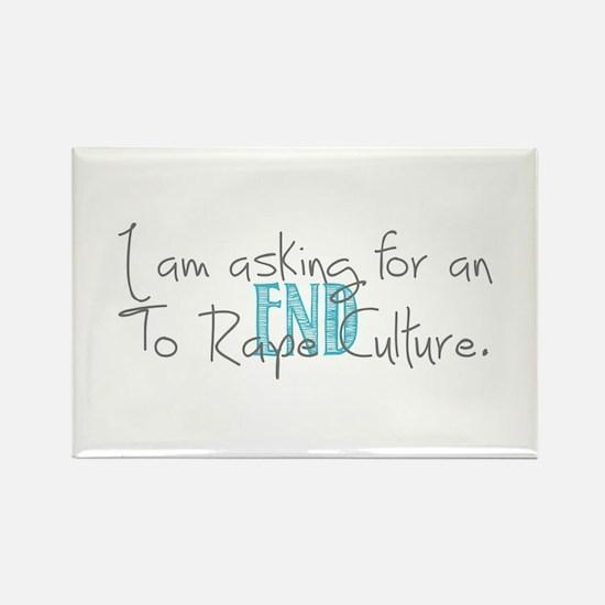 End Rape Culture Rectangle Magnet