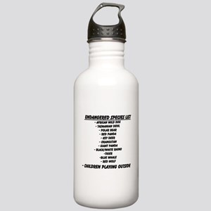 Endangered Species List Water Bottle