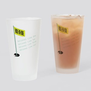 Golf Hole in One Drinking Glass