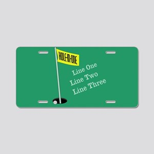 Golf Hole in One Aluminum License Plate