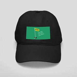 Golf Hole in One Black Cap
