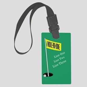 Golf Hole in One Large Luggage Tag