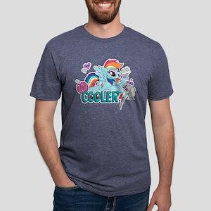 MLP Rainbow Dash Cooler Mens Tri-blend T-Shirt