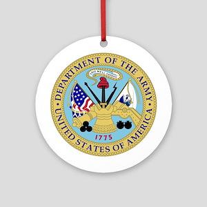 Army Emblem Ornament (Round)