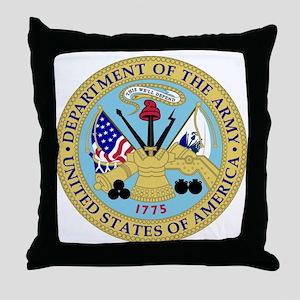 Army Emblem Throw Pillow