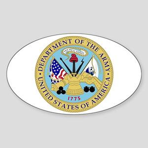 Army Emblem Oval Sticker