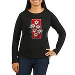 Edelweiss stack Women's Long Sleeve Brown T-Shirt