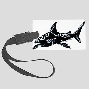 shark_BLACK Luggage Tag